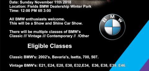 Sunshine Bimmers - Winter park car show 2018
